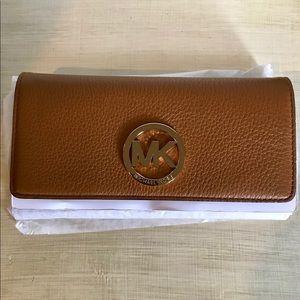 Michael Kors Fulton Wallet in Acorn